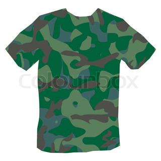 320x320 Military Vector Background With Uze Silhouette Stock Vector