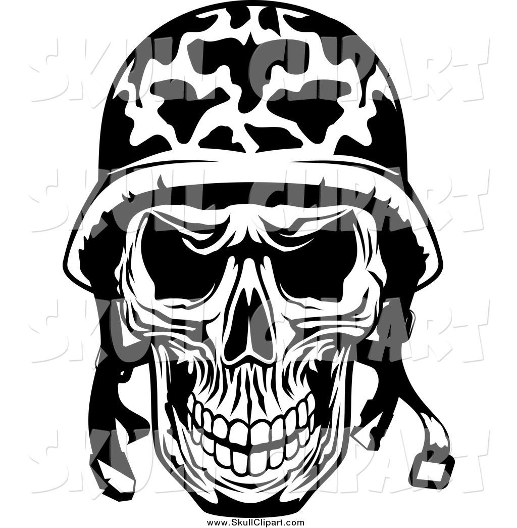 1024x1044 Skull Clipart Military