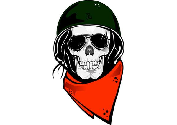 600x425 Skull In Military Helmet Free Vector 123freevectors