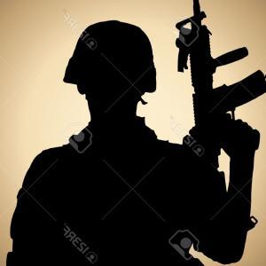 300x300 American Soldier Silhouette Vector Sohadacouri