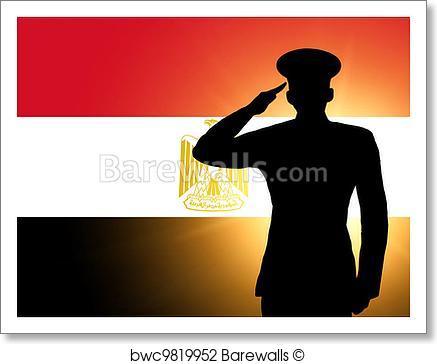 437x364 Art Print Of The Egyptian Flag Barewalls Posters Amp Prints