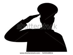 236x178 Woman Soldier Salute Silhouette