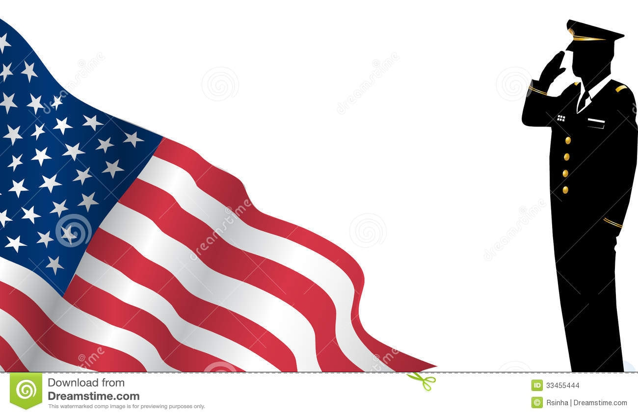 1300x848 Clip Art Us Flag Military Soldier Saluting In Silhouette Stock