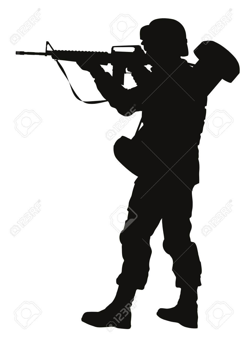 951x1300 Soldier Clipart Gun Silhouette