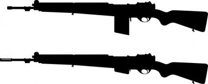 425x172 Guns Silhouette Clip Art Vector, Free Vector Images