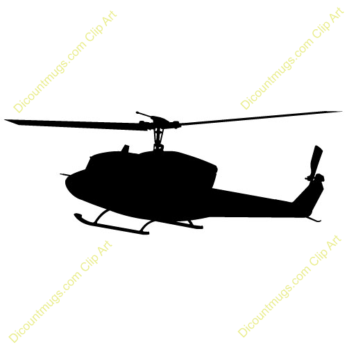 500x500 Helicopter Clipart Silhouette