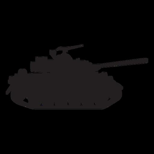 512x512 Military Tank Silhouette