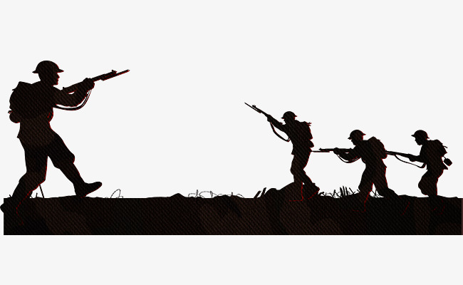650x400 Silhouette Of Military Training, Military Training, Silhouette