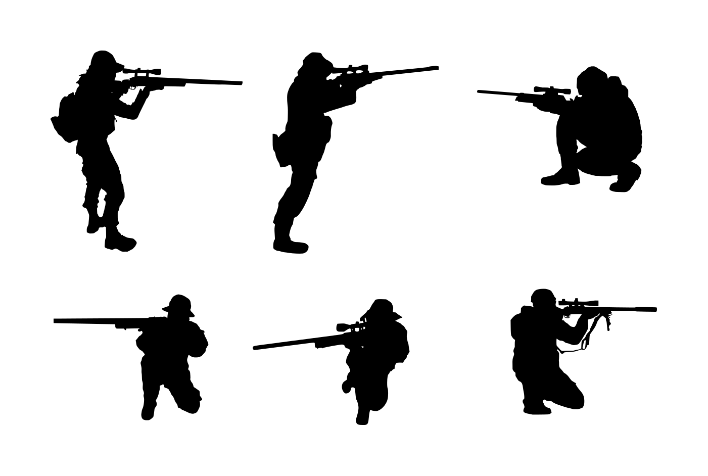 1401x942 6 Sniper Shooter Silhouette (Png Transparent)