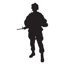 256x256 Soldier In Tank Silhouette