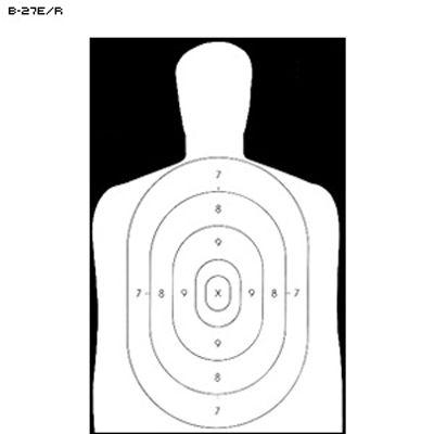400x400 Law Enforcement B 27e Reverse Target Target, Law Enforcement
