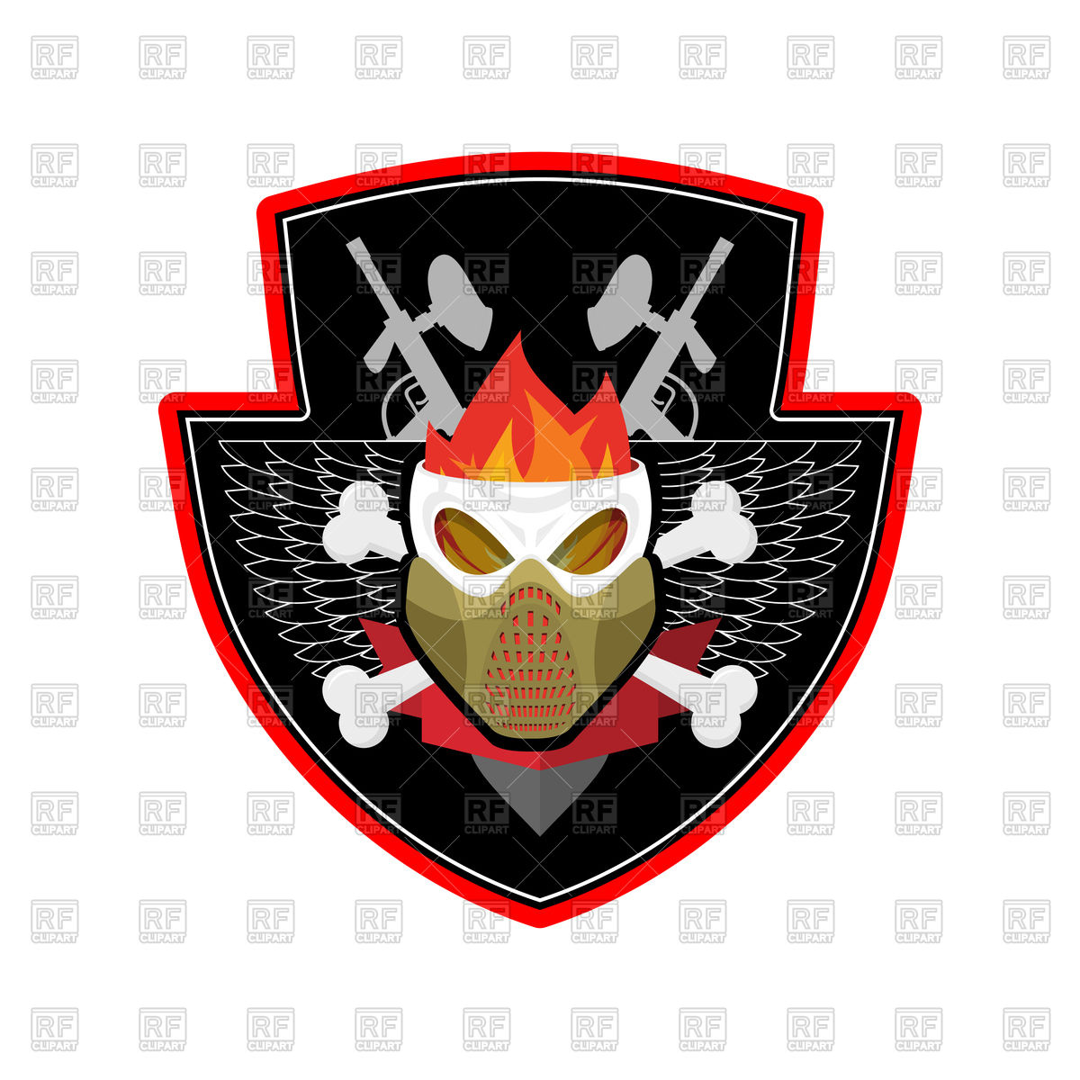 1200x1200 Military Emblem. Paintball. Royalty Free Vector Clip Art Image