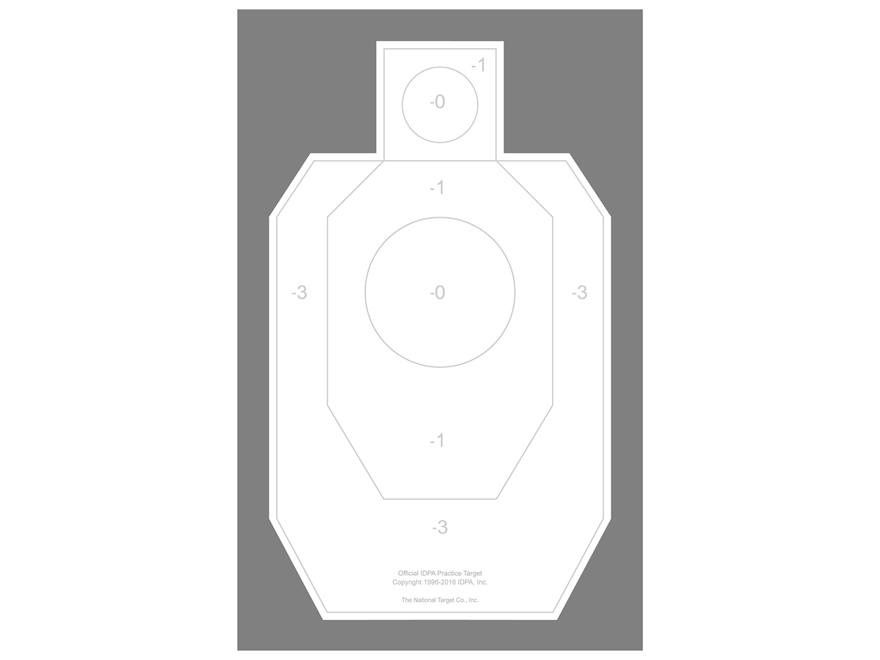 880x660 National Target Practice Idpa Target Paper Pack Of 100