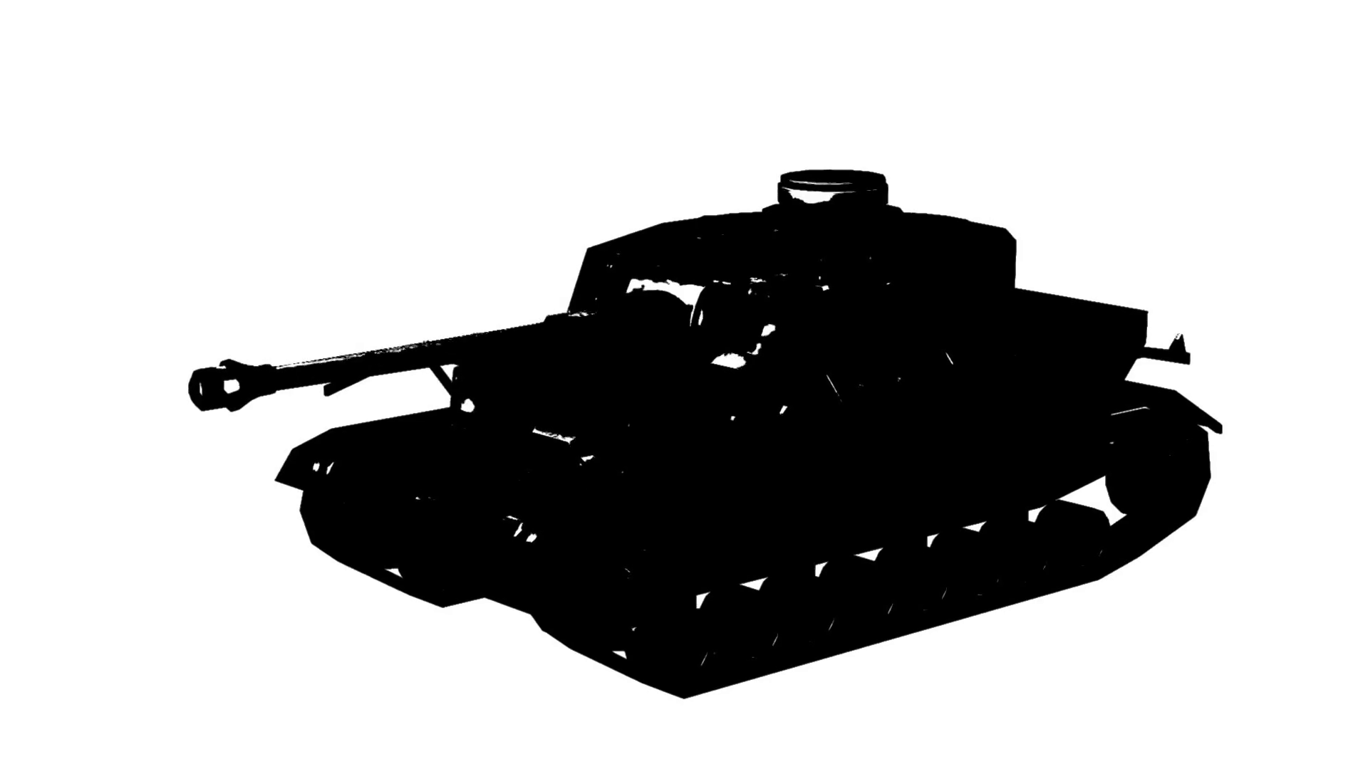 1920x1080 Military Tank Firing Animation On White Background Motion