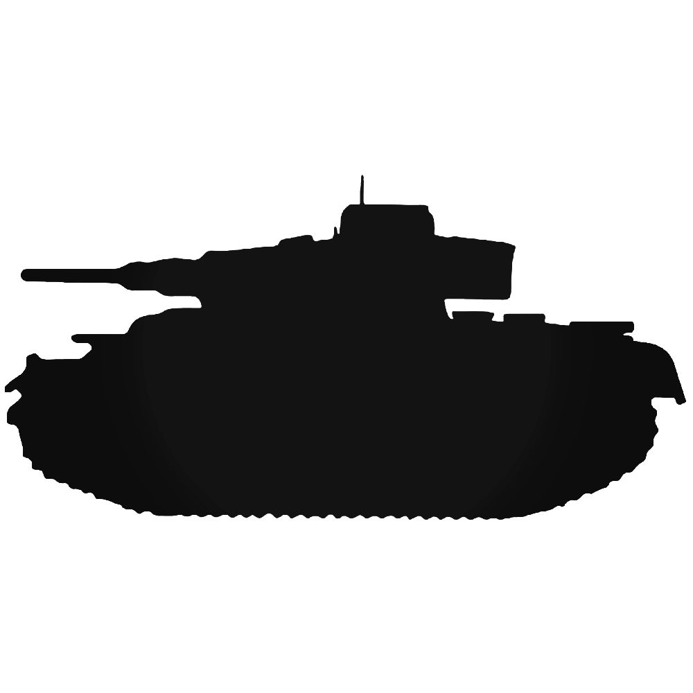 1000x1000 Panzer Tank Military Vinyl Decal Sticker
