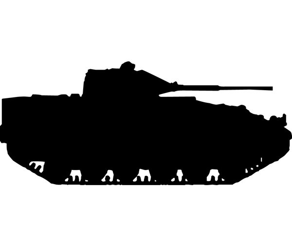 600x507 Wallhogs Haynes Military Tank I Silhouette Cutout Wall Decal
