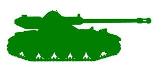 320x141 Army Tank Silhouette 3 Decal Sticker