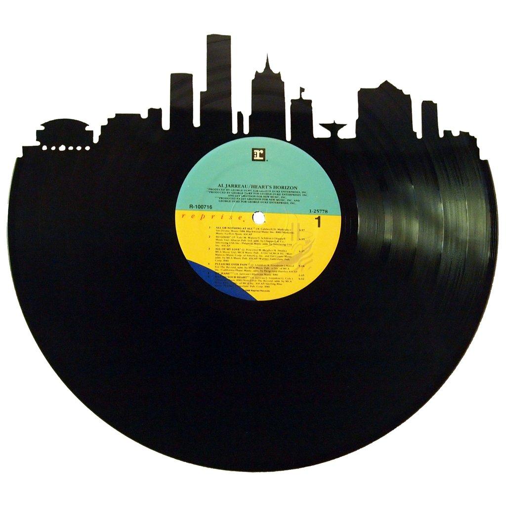 1024x1024 Milwaukee Skyline Vinyl Record Art Milwaukee Skyline, Vinyl