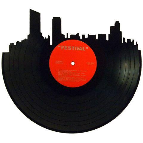 480x480 Milwaukee Skyline Vinyl Record Art Graphics Art