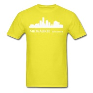 190x190 Milwaukee Wisconsin Downtown Skyline Silhouette T Shirt Spreadshirt