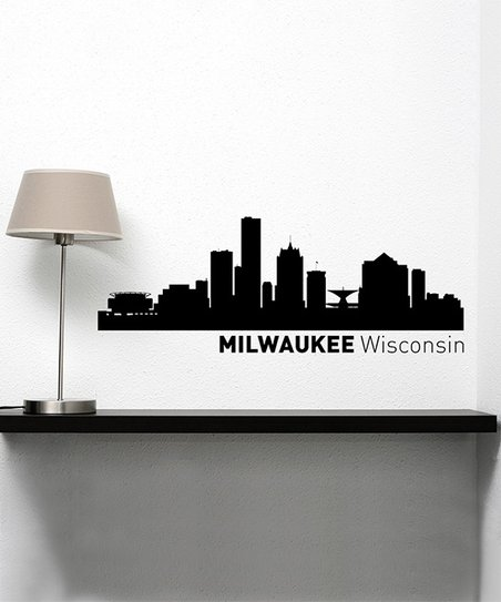 452x543 Larger Than Life Prints Milwaukee Skyline Wall Decal Zulily