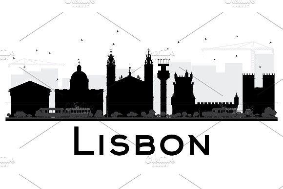 580x386 Lisbon City Skyline Silhouette Lisbon City, Skyline Silhouette