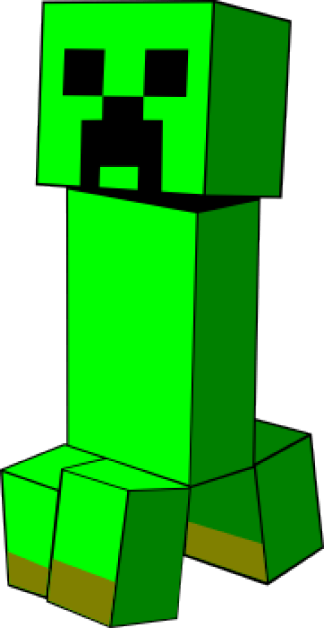 469x907 Minecraft Creeper Svg Creepers, Crafts And Cricut
