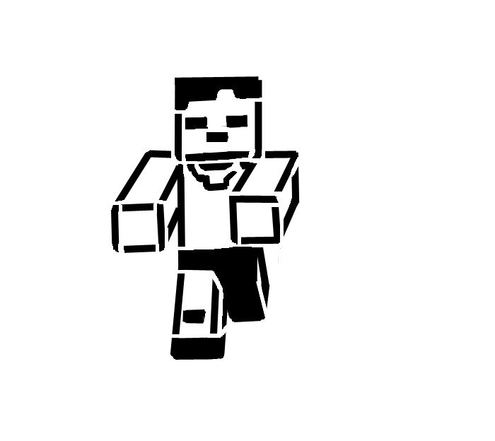 Minecraft Silhouette at GetDrawings
