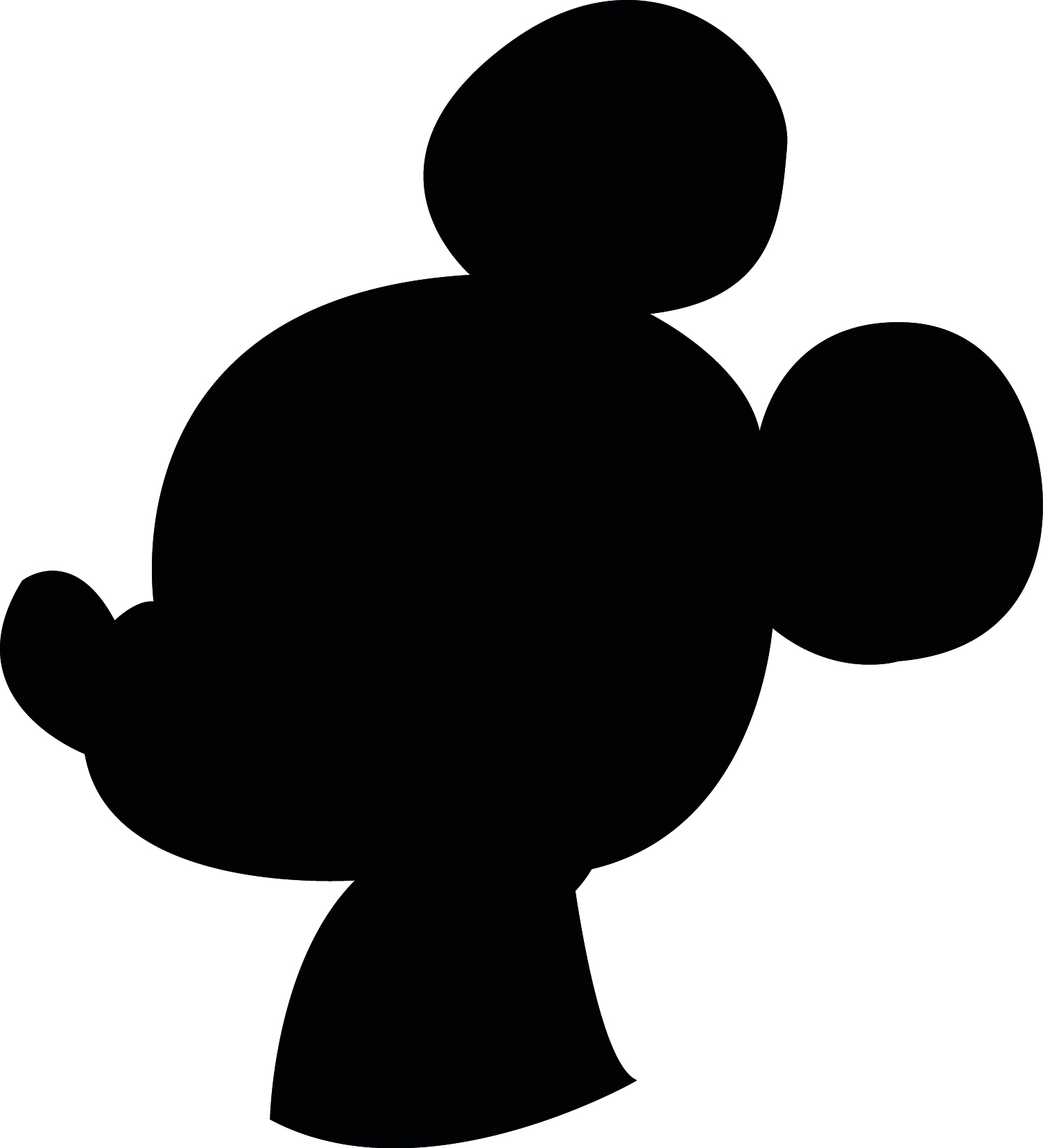 1504x1654 Minnie Mouse Silhouette Template