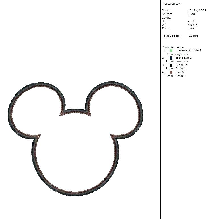 742x769 Outline Of Mickey Mouse Mickey Head Outline Google Search Outline