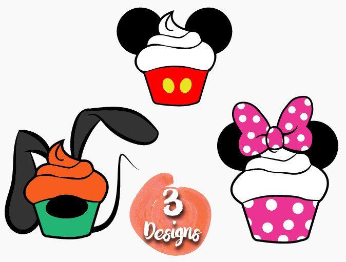 674x511 Cupcake Pack Bundle Svg Cute Mini Mickey Pluto Disney Svg Cutting