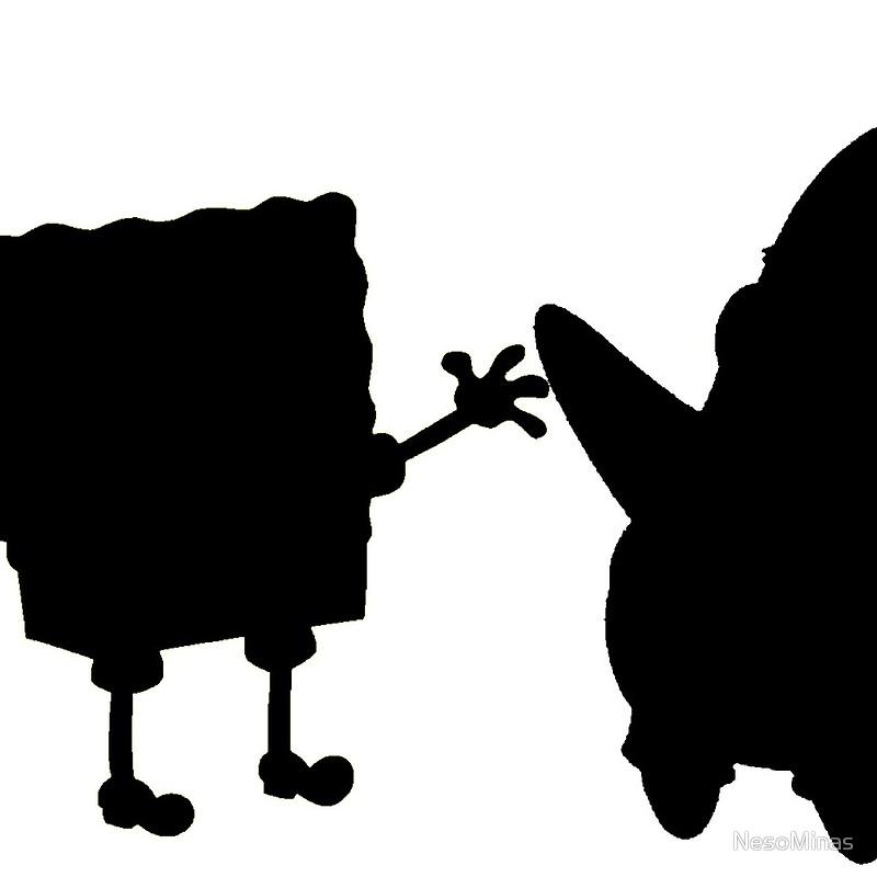 800x800 Spongebob Patrick Silhouette Mini Skirts By Nesominas Redbubble