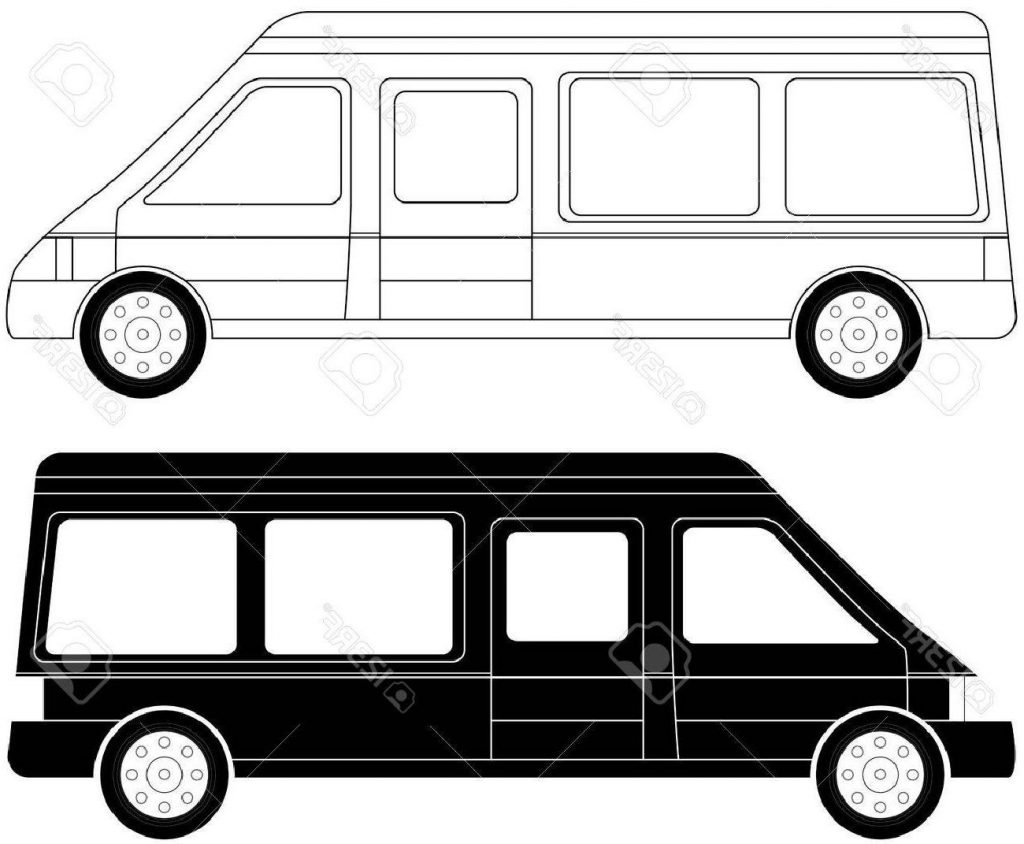 1024x844 Unique Set Of Two Mini Bus Silhouette Stock Vector File Free