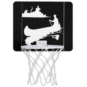 307x307 Black Silhouette Mini Basketball Hoops Zazzle