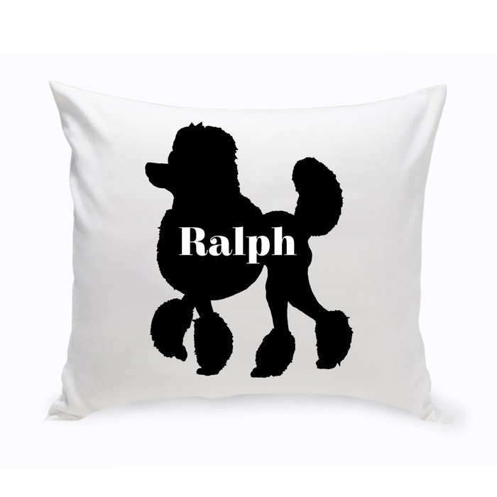 700x700 Jds Personalized Gifts Personalized Mini Poodle Silhouette Throw