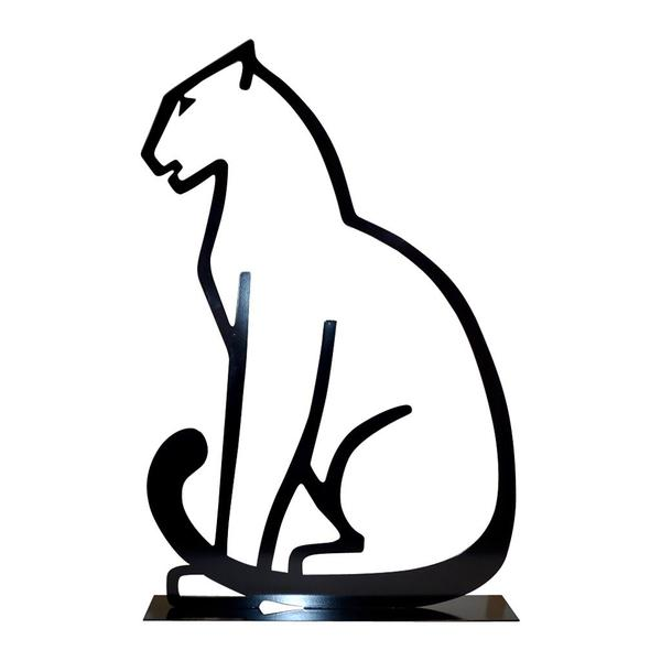 600x600 1980 Italian Minimalist Design Black Lacquered Iron Panther