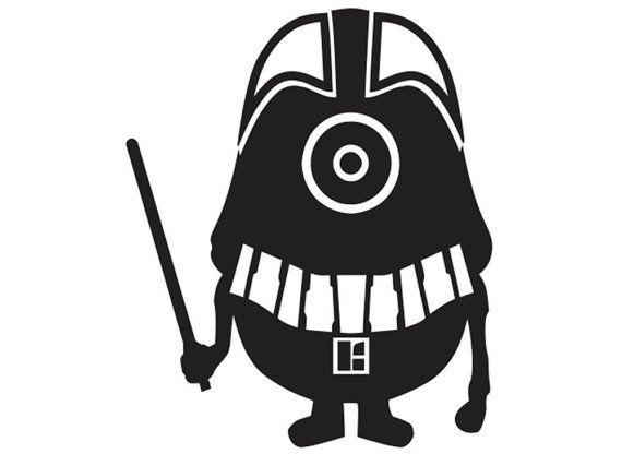 570x427 Darth Vader Minion Vinyl Decal Sticker For The Star Wars Fan
