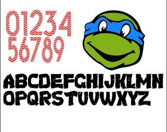 340x270 Ninja Turtle Letters Etsy