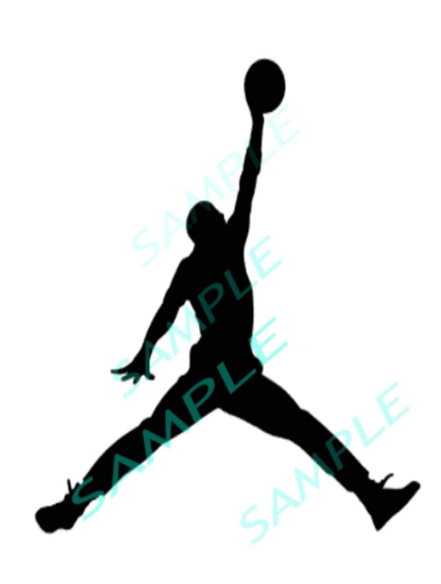 640x848 Air Jordan Basketball Player Cut File Silhouette Svg Instant