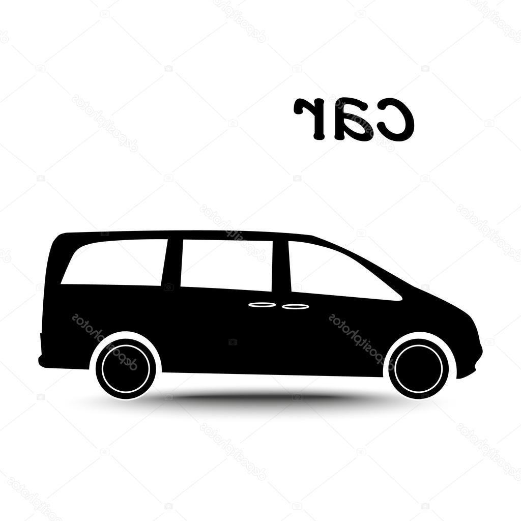 1024x1024 Hd Stock Illustration Car Minivan Silhouette File Free