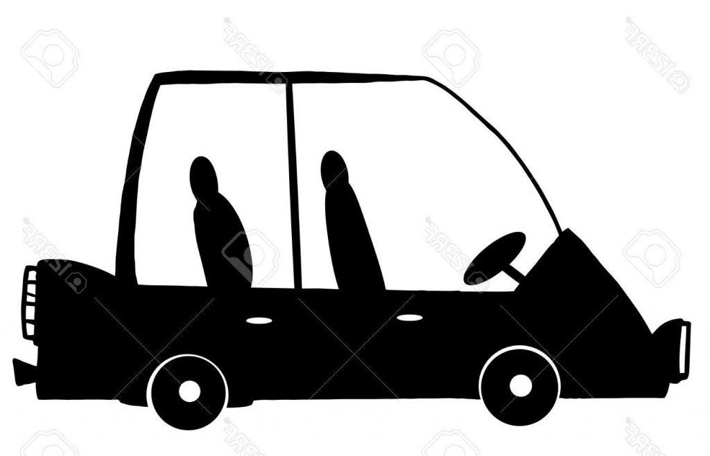 1024x659 Unique Mini Van Car Cartoon Silhouette Stock Vector Cdr