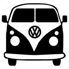 236x236 Vw Camper Van Minibus Svg And Dxf Cut Files