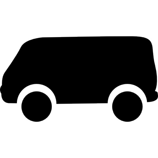 626x626 Van Black Silhouette From Side View Icons Free Download