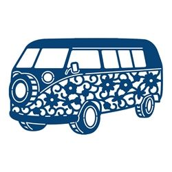 250x250 Camper Van Die From Tattered Lace Silhouette Cut
