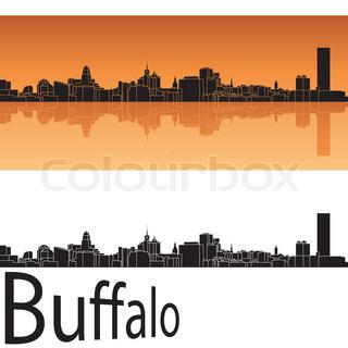 320x320 New York City Skyline Silhouette Background. Vector Illustration