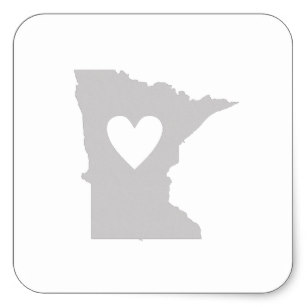 307x307 Minnesota Silhouette Stickers Zazzle