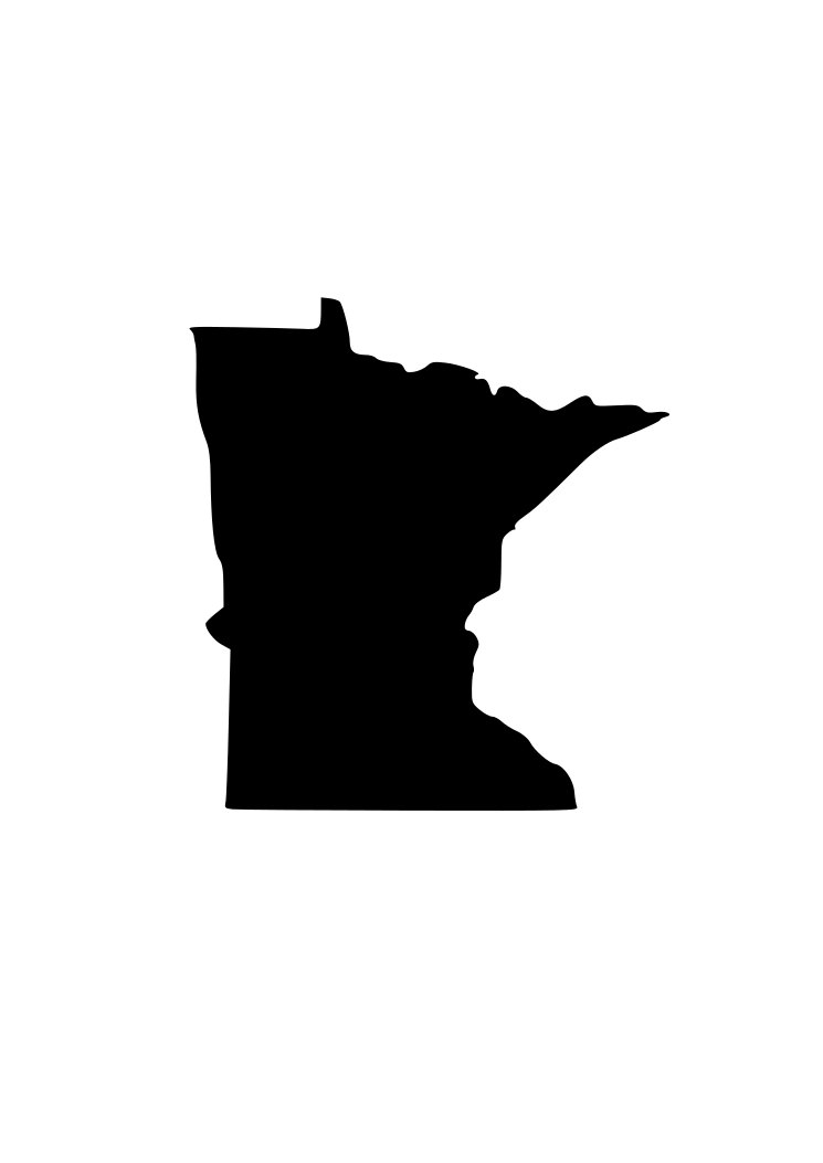 745x1053 State Of Minnesota Mn Svg Outline Laptop Cup Decal Svg Digital