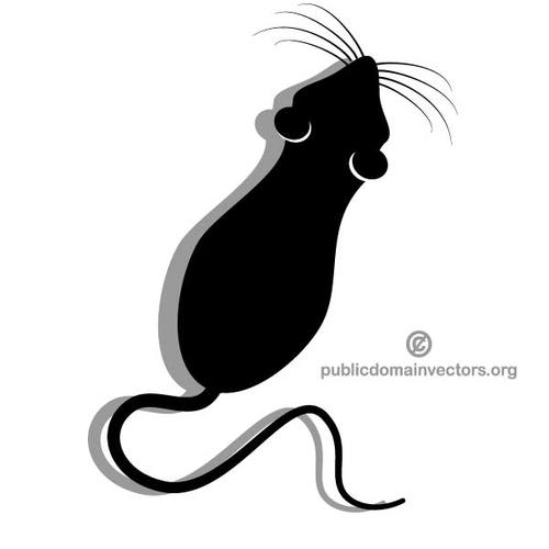 500x500 27573 Mouse Clip Art In Black Silhouette Public Domain Vectors