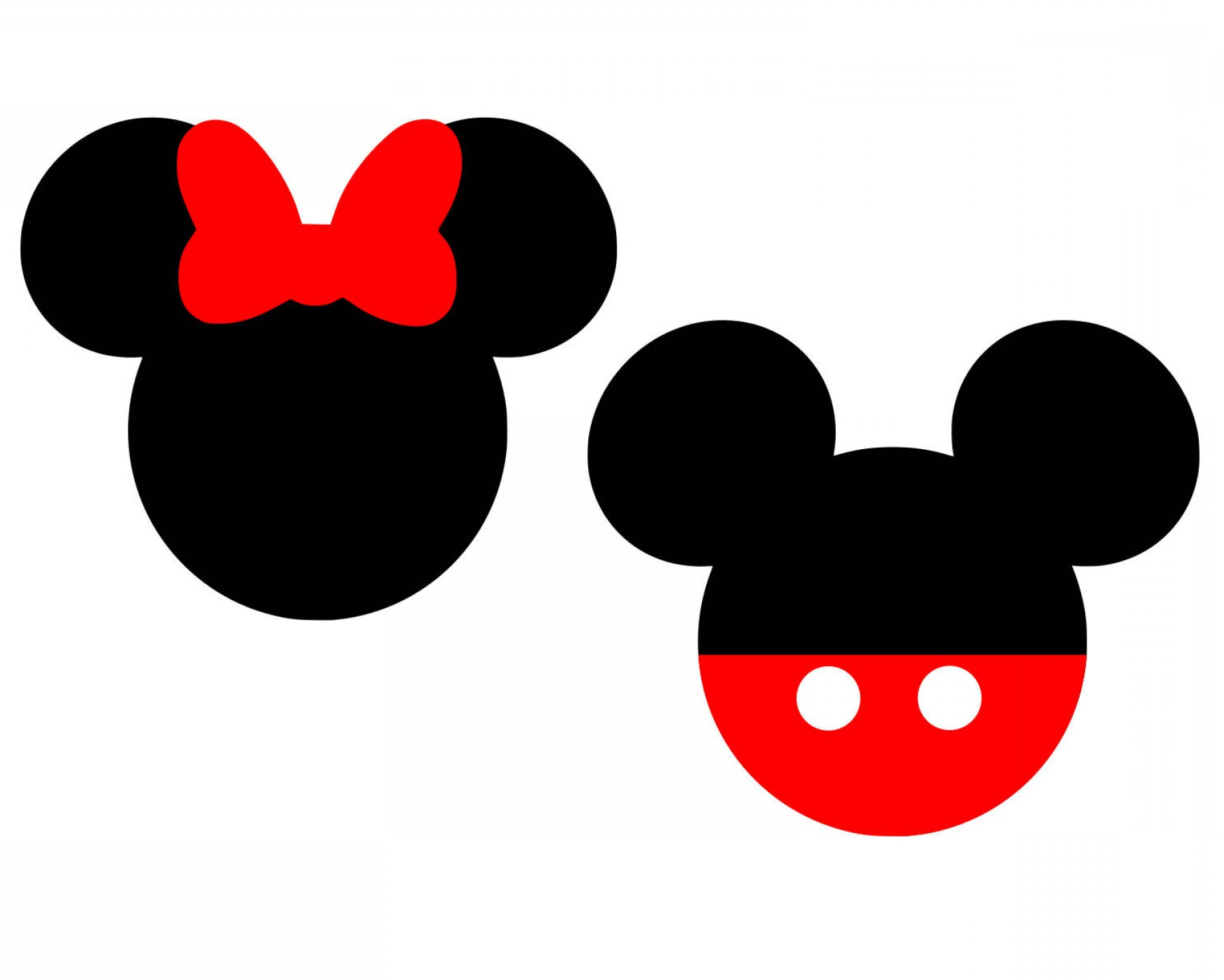 1800x1440 Mickey Silhouette Vector Lazttweet