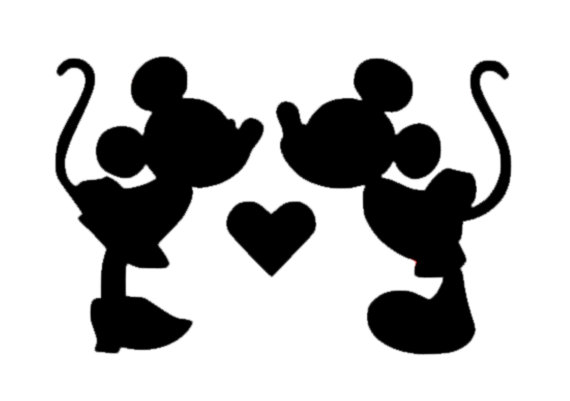 570x401 Minnie And Mickey Mouse Kissing Decal Disney Mickey Decal